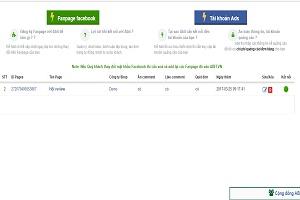 Thêm Fanpage facebook, quản lý comment, đơn hàng tự động-ABIT.VN