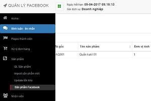 Quản lý sản phẩm facebook-ABIT.VN
