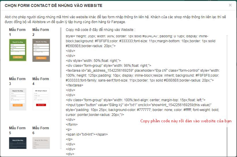Đồng bộ với website