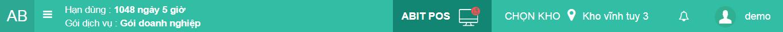 Giới thiệu giao diện trang chủ quản lý abitstore