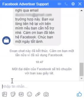 Hướng dẫn cách chat với đội ngũ support facebook