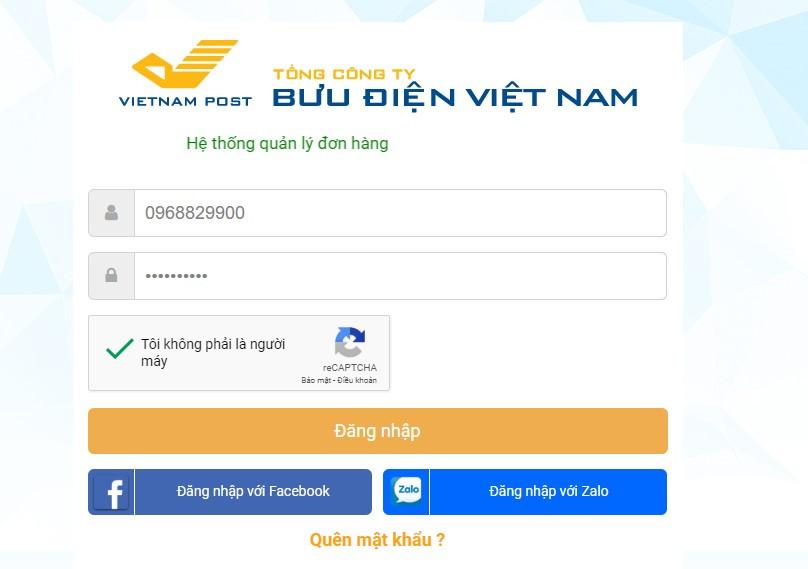 Quản lý vận đơn của My VNPOST